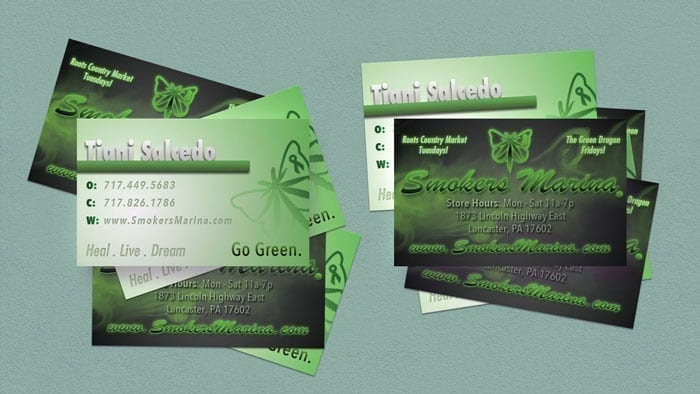 Smokers Marina Business Cards